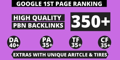 Get Extreme 350+ Backlink in your website homepage