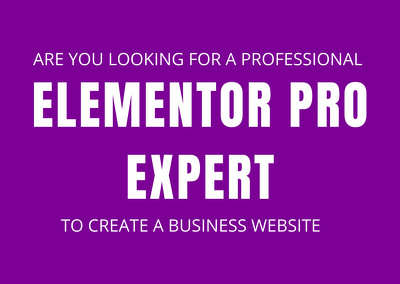 I Will Create A Full Website Using Elementor Pro Page Builder