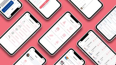 Design clickabl ui prototype (unique 3 screens) for application