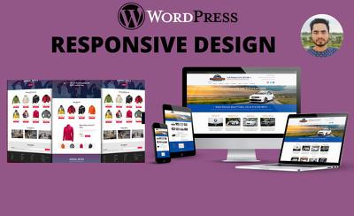 Create wordpress website design or build modern ecommerce websit