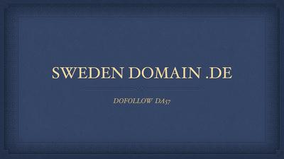 Guest post on sweden site .de domain DOFOLLOW DA57