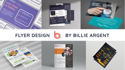 Design an Informational Flyer X2 Sides