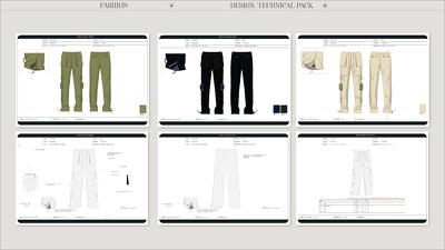 Create a full fashion tech pack design garment