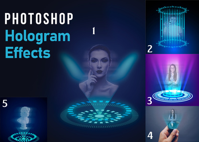 Create hologram effect in your 3 images instantly