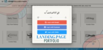 Develop a landing page