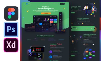 Create a modern and professional website UI UX design (1 Page))