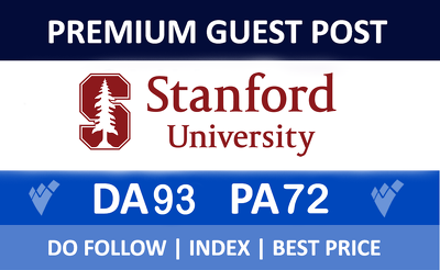 Premium guest post on Stanford.edu With Dofollow Backlink