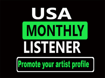 Promote your artist profile for usa monthly listener