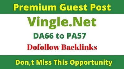 Write and publish Guest Post on Vingle | Vingle.net DA63 DR72
