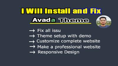 Setup customize and fix your avada theme customization