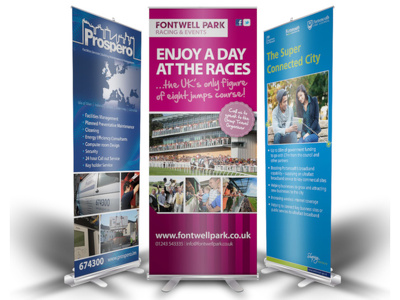 Design your professional Roller Banner or Pop-up Stand banner