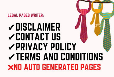Write privacy policy and terms and conditions for your website