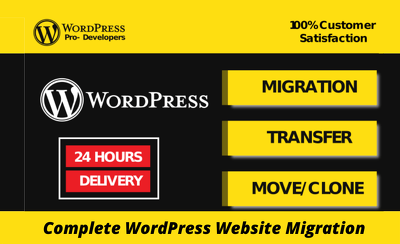 Transfer, clone, migrate, move, migration wordpress website