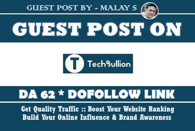 Guest Post on Techbullion. Techbullion.com DA62