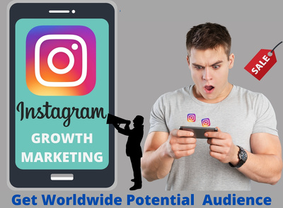 Do instagram marketing and promotion with organic growth