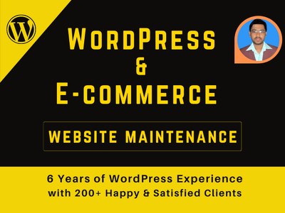 Do WordPress Maintenance & E-commerce Website Maintenance