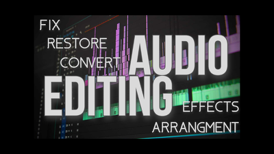 Edit your audio to make it sound the way you want