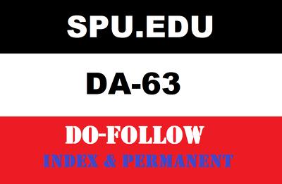 Publish Edu Guest Posts on SPU- spu.Edu DA-63 DR 55