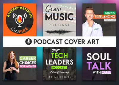 Design a professional podcast cover art