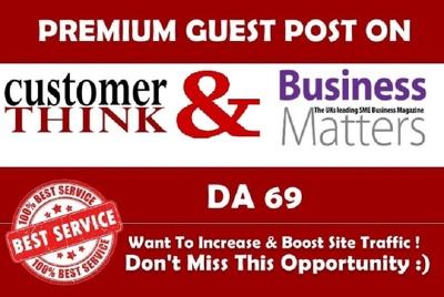 Write & Publish BmMagazine & CustomerThink.com