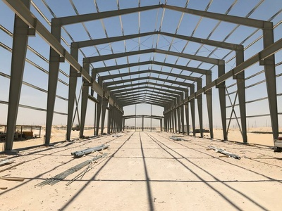 Design of your warehouse made of steel sections