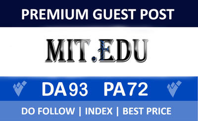 Premium guest post on MIT.edu With Dofollow Backlink