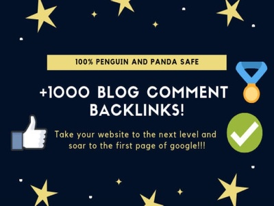 Provide you 1000 High quality DOFOLLOW blog comment backlinks