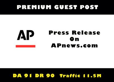 Publish Guest Post/Press Release on Apnews, Apnews.com DA 92
