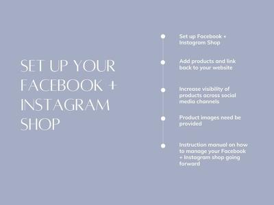 Set up your Facebook and Instagram Shop