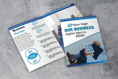 Design your company flyer, brochure
