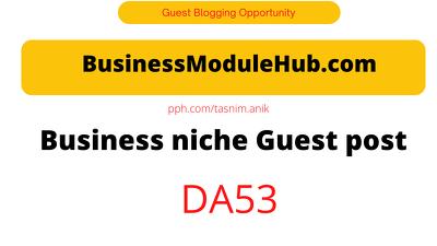 BusinessModuleHub.com DA53 Business niche guest post