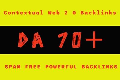 100 contextual web 2 0 backlinks da 70 high authority web 2 blog