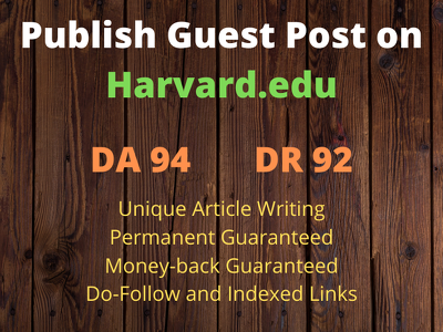 Guest Post on Harvard.edu with Do Follow Link DA 94 DR 92