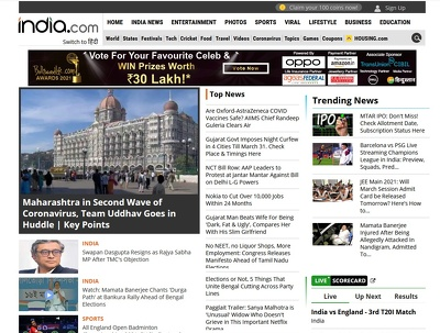Feature or Interview on indian Top News Site - INDIA.COM