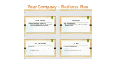 Put your business plan into a 12-18pg slide deck