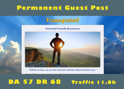 Publish dofollow guest post on trans4mind.com - trans4mind DA 57