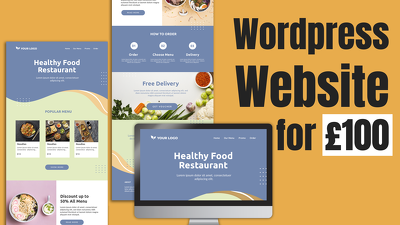 Design and Develop a Business Wordpress Website for £100