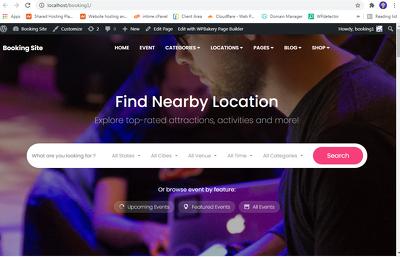 Develop Custom Online Booking WordPress Website