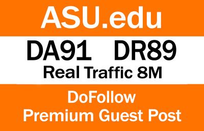 Write and Publish guest post on ASU.edu   DA91