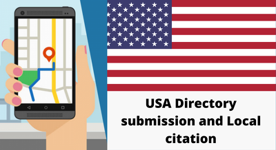 Manually create 20 live USA directory submissions, localization
