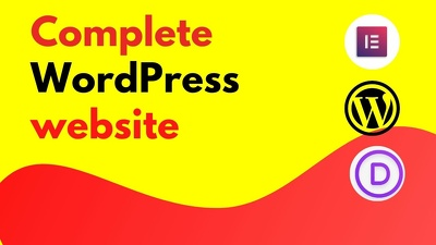 Design complete wordpress website