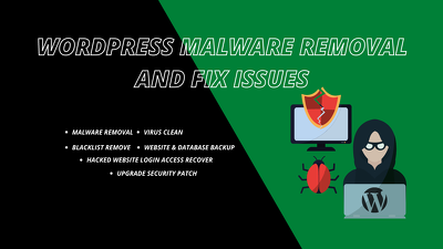 Fix wordpress malware removal virus clean recover Hacked website