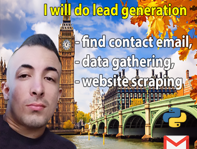 I will find 100 contact email, data gathering, lead generation