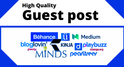 Write and Publish 5 Dofollow Guest Post High DA SEO backlinks