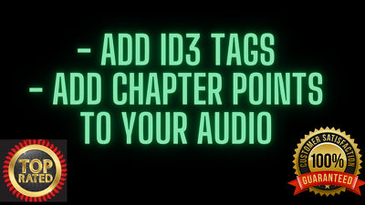 Add id3 tags and chapter points to your audio