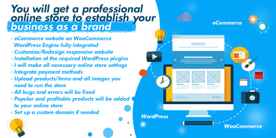 You get a professional online store for your business