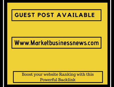 Do a guest post on market business news