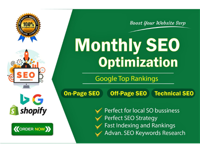 Provide Monthly On page SEO and Technical Optimization
