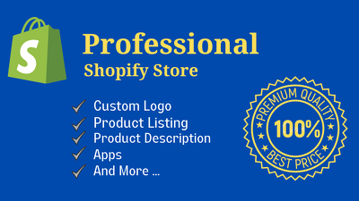 Setup your professional shopify store