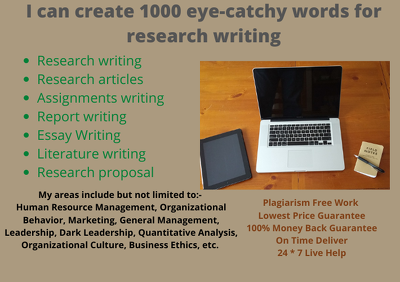 Create 1000 eye-catchy words for research writing